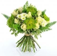 bouquet fleurs livraison blanc vert cadeau anniversaire livrer fleuriste