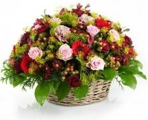 vannerie fleurs pastels deuil anniversaire livrer coussin floral obsèques enterrement funérailles