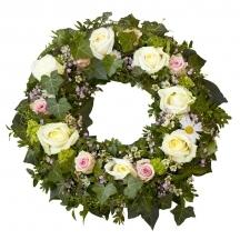 couronne demi fleurs livraison fleuriste église déposer livrer