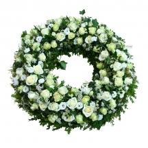 couronne blanche vert fleuriste livraison deuil