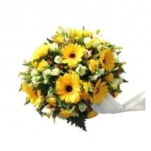 coussin fleurs livraison jaune livrer deuil deposer obseques fleuriste envoyer