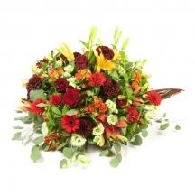 coussin fleurs coloré livraison deuil livrer eglise enterrement obseques fleuriste